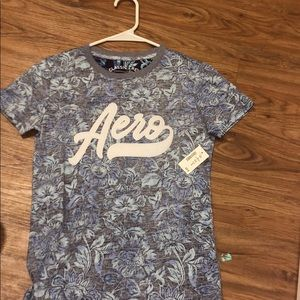 a flowered aeropostale t- shirt , never worn